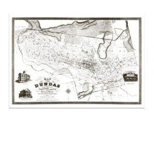 Historical Map of Dundas Ontario Canada