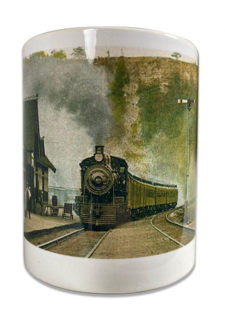 Train Mug Closeup