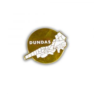 Dundas Map Pin created by The Jelly Bros