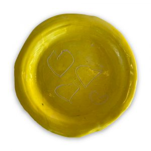 Yellow Plate by L'Arche
