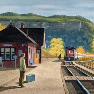 Dundas Train Station by Cecile R. Barlow